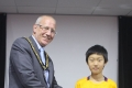 Second prize winner in the Under 10, Yichen Han