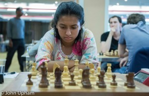 Akshaya deep in concentration ...