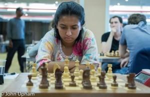 Akshaya deep in concentration ...