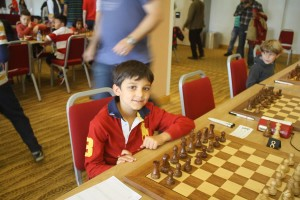 An Under 8 competitor