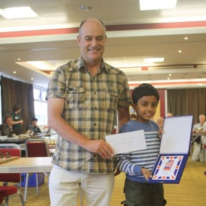 Another prizewinner with GM Keith Arkell