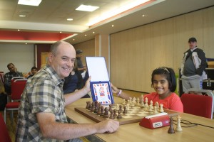 An Under 8 prizewinner with GM Keith Arkell