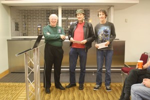Mike Surtees and Peter Batchelor, joint winners Open Rapidplay