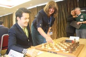 The opening move - Wendy Coy (UoW) and David Howell